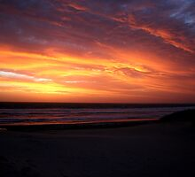 Backbeach Sunset by Kim Jackson