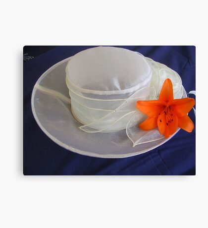 Wedding Hat Canvas Print