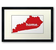 Kentucky Home Red Framed Print