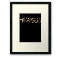 Heisenberg Graffiti Framed Print