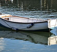 Small Boat At Lyme Harbour  Nov 6th 2012 by lynn carter