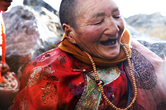 Tibetan Elder by Niki Taxidis