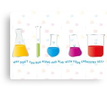Play with your chemistry set Canvas Print