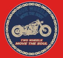 Two wheels move the soul Kids Clothes