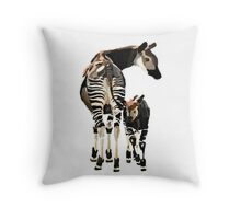 Okapi and Calf  Throw Pillow