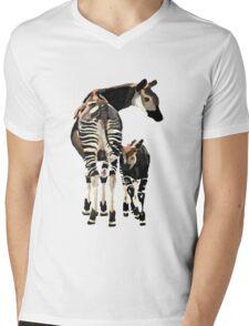 Okapi and Calf  Mens V-Neck T-Shirt