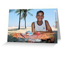 Copacabana Beach, Brazil 2009 Greeting Card