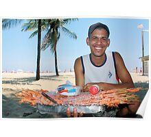 Copacabana Beach, Brazil 2009 Poster