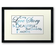love quotes Framed Print