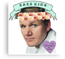 Gordon Ramsay Flower Crown Sass Canvas Print