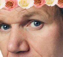 Gordon Ramsay Flower Crown Sass Sticker