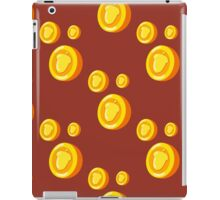 seamless pattern with gold coins which depicts a nut. Cute background iPad Case/Skin