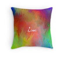 Multi-Colored Love  Throw Pillow