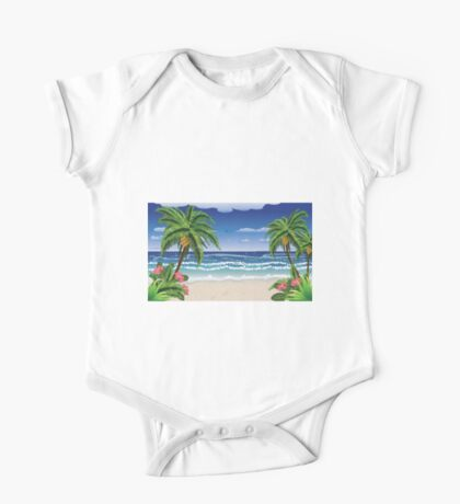 Beach and tropical sea One Piece - Short Sleeve