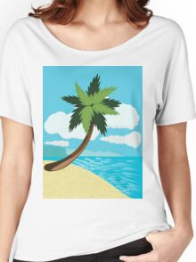 Beach and tropical sea 2 Women's Relaxed Fit T-Shirt