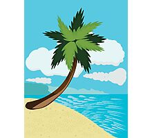 Beach and tropical sea 2 Photographic Print