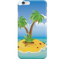 Cartoon Palm Island iPhone Case/Skin
