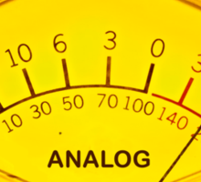 Analog sound audio meter  Sticker