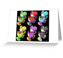 Yoshi colors Greeting Card