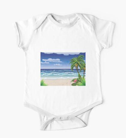 Palm tree on beach One Piece - Short Sleeve