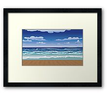 Jetty and sea Framed Print