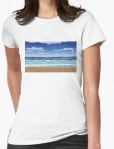 Jetty and sea Womens Fitted T-Shirt