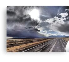 Dramatic Skies Welcoming Riders to Cimarron Metal Print
