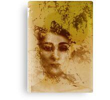 Experimental darkroom portrait Canvas Print