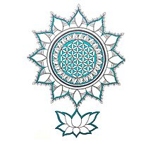 Flower Of Life Mandala Photographic Print