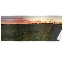 Sunset - Kelsh Road Echuca Poster