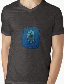 Blue Diver Mens V-Neck T-Shirt