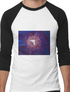 Blue Fireworks Men's Baseball ¾ T-Shirt