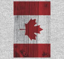 "Canada ""painted on wood"" flag Kids Clothes"