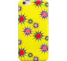 seamless pattern with colorful stars on a yellow background. Bright geometric pattern. iPhone Case/Skin