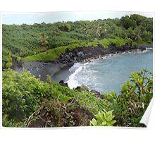 Maui Black Sand Beach Vista Poster