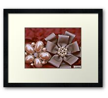 Bow & Pearls Framed Print