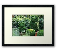 topiary green bear Framed Print