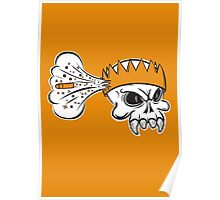 Boom Headshot gaming skull Poster