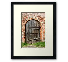 Ancient door Framed Print