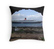 QE2 Last Voyage Throw Pillow