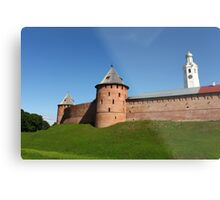 View of the fortress wall of the Novgorod Kremlin Metal Print