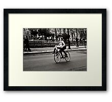 Etta & Butch Go for a Ride Framed Print