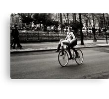 Etta & Butch Go for a Ride Canvas Print