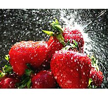 Strawberry Splatter Photographic Print