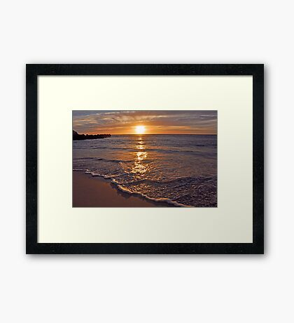 Trigg Beach Sunset  Framed Print