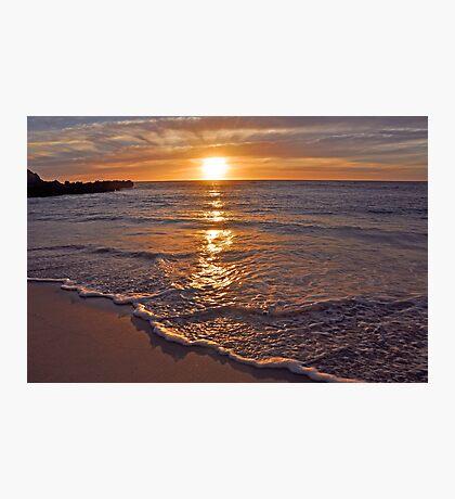 Trigg Beach Sunset  Photographic Print