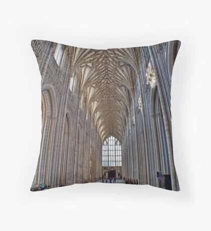Winchester Catedral - The Nave Throw Pillow
