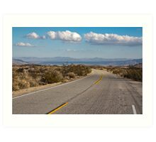 Road in Joshua Tree National Park Art Print
