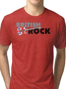 British Rock Music Guitar Tri-blend T-Shirt