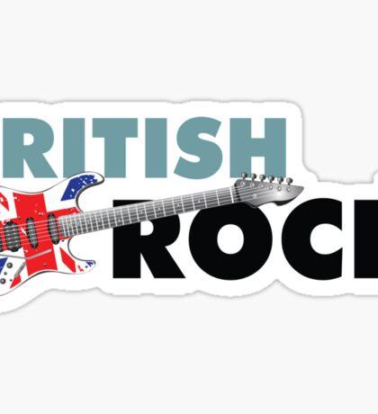 British Rock Music Guitar Sticker